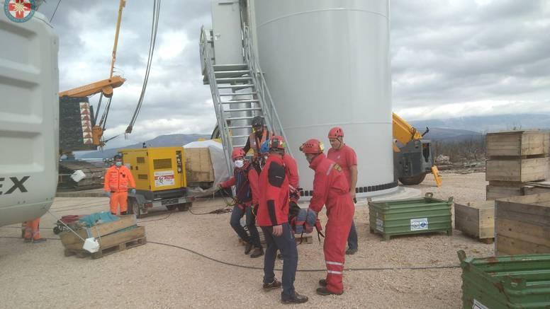 Ozlijedio se radnik u elektrani, HGSS ga spuštao s 35 m visine