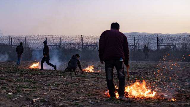 Migrants at the Greek-Turkish border