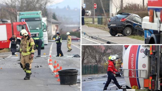 Auto se sudario s cisternom punom goriva: Vozač  poginuo