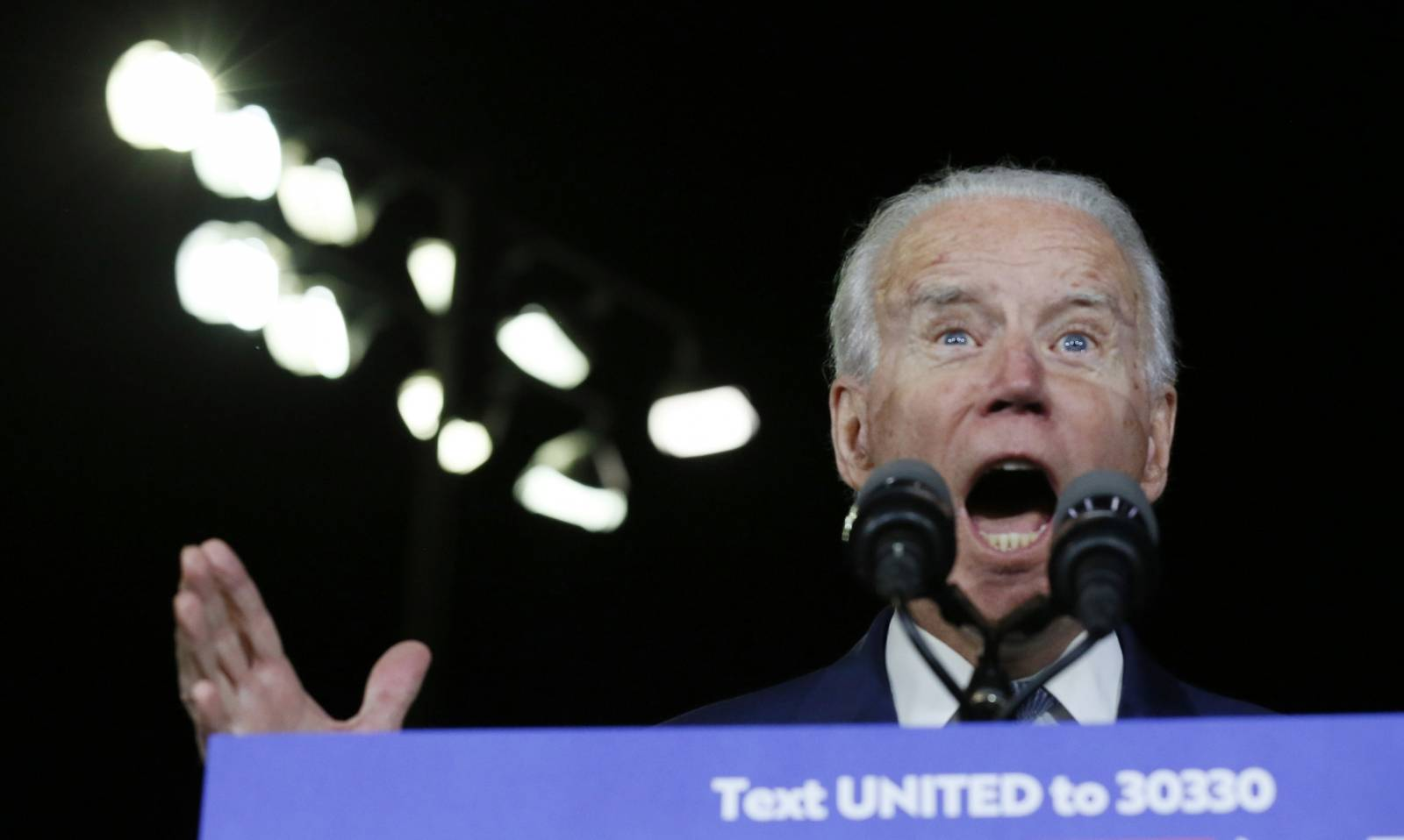 Democratic U.S. presidential candidate and former Vice President Joe Biden speaks at his Super Tuesday night rally in Los Angeles, California, U.S.