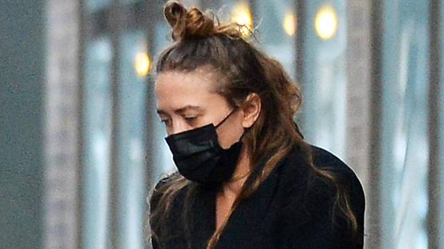 EXCLUSIVE: Mary-Kate Olsen is Spotted Leaving Her Office in New York City.