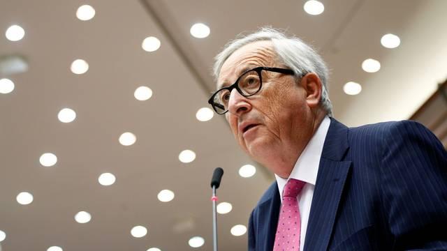 European Commission President Juncker addresses the European Parliament in Brussels