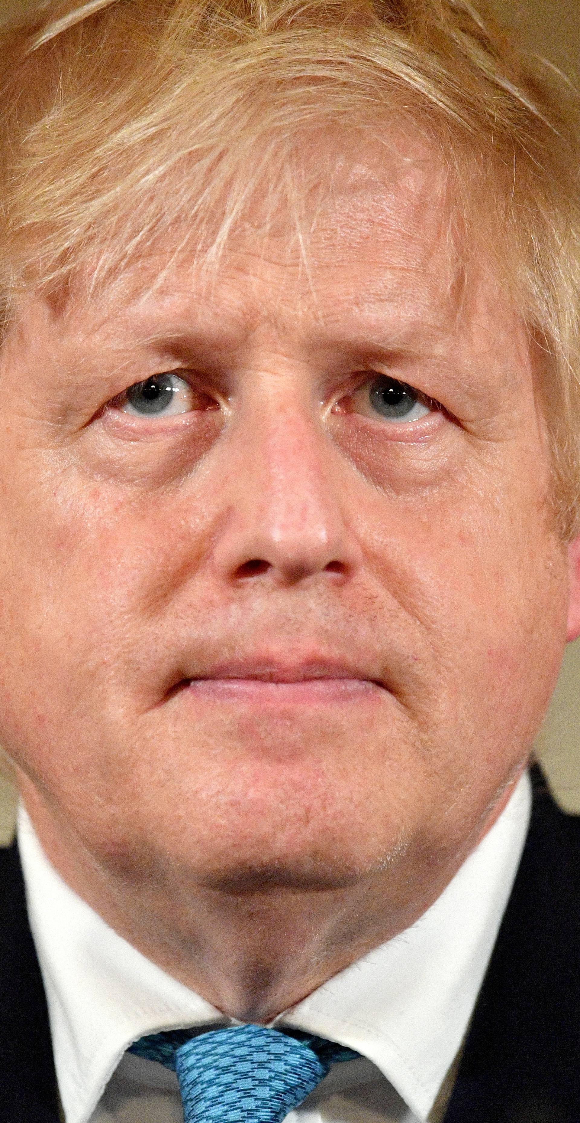FILE PHOTO: British PM Johnson gives daily address to nation on coronavirus in London