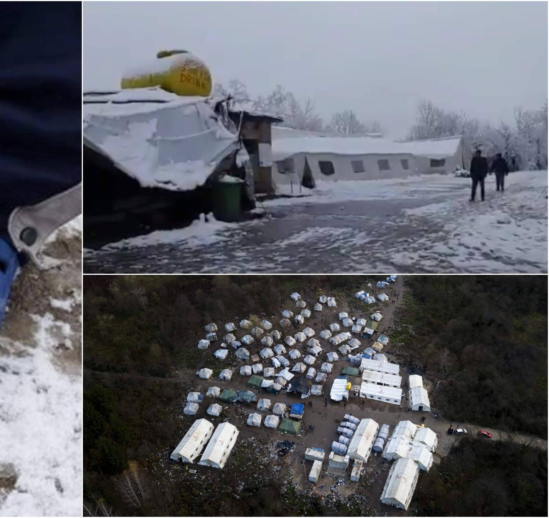 Neljudski uvjeti u BiH: Migranti prvi snijeg dočekali u šlapama