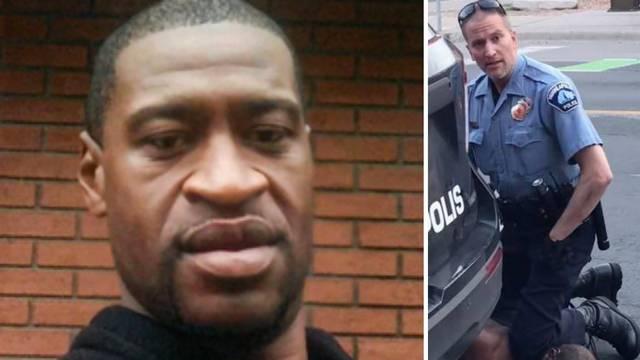 Gnjusno! U policijskoj postaji šire fotku Georgea Floyda s porukom 'Oduzimaš mi dah'