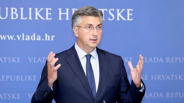 Zagreb: Predsjednik Vlade Andrej Plenković održao je konferenciju za medije