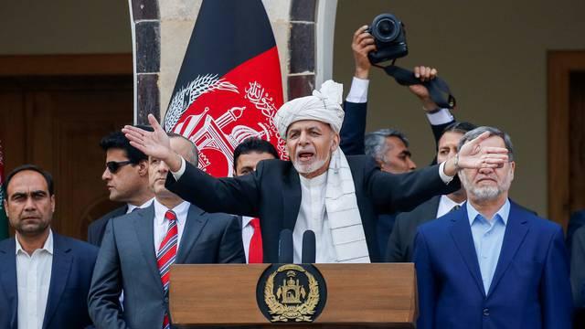 Afghanistan's President Ashraf Ghani speaks during his inauguration as president, in Kabul