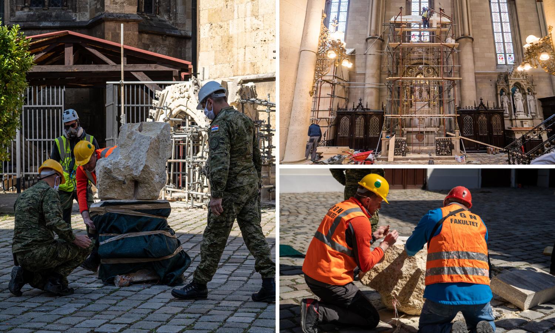 Opasne tornjeve Zagrebačke katedrale rušit će dinamitom