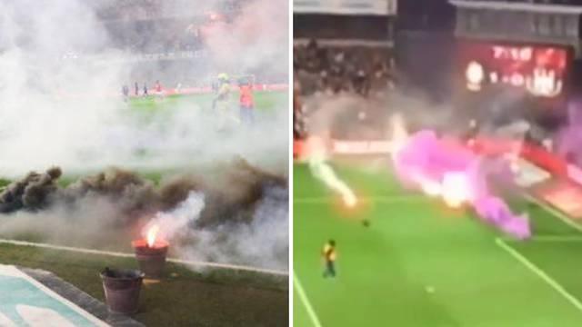 Skandal! Navijači Anderlechta bakljadom prekinuli utakmicu