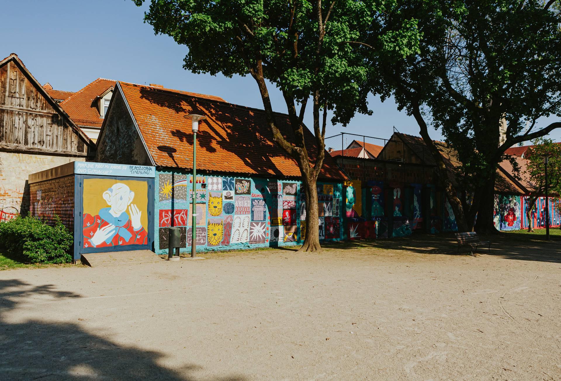 Dar građanima: Muralima smo oživjeli zidove parka Opatovina