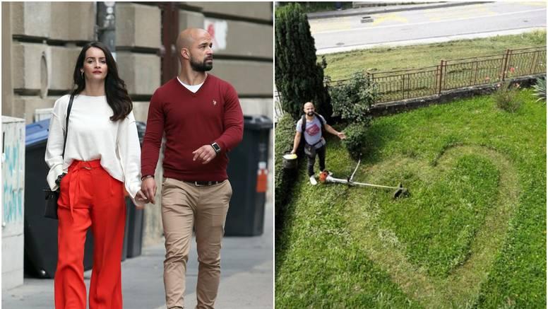 Luka iz 'Braka na prvu' za Ingrid je pokosio travu u obliku srca...