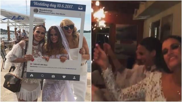 Trudna Maja Cvjetković udala se u bijeloj čipki uz 'Ringišpil'