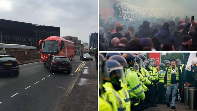 Navijači Uniteda opet htjeli odgoditi susret: Ispustili su gume na Liverpoolovom busu