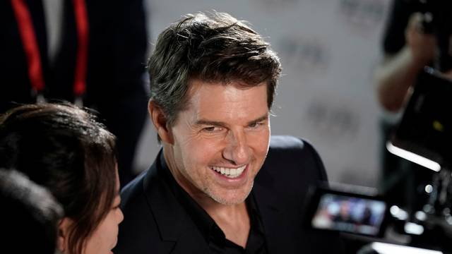 "Cast member Tom Cruise attends a news conference promoting his upcoming film ""Mission: Impossible - Fallout"" in Beijing"