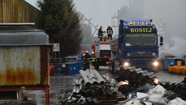 Požar u postrojenju Zagrebpetrola u Grubišnom Polju