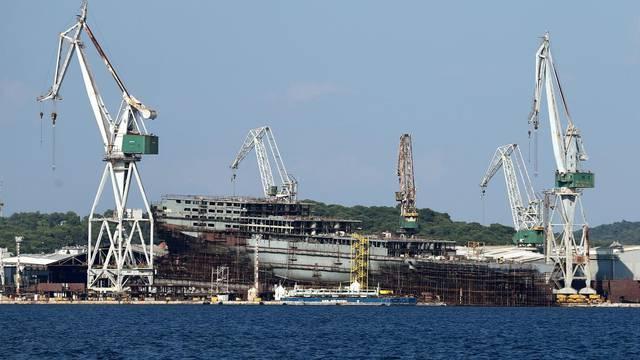 FILE PHOTO: Part of Uljanik shipyard is seen in Pula