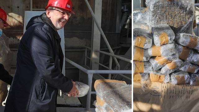 VIDEO Božinović je ubacio prvi paket droge u peć, spalili dvije tone. Vrijedila bi 9,5 mil. eura