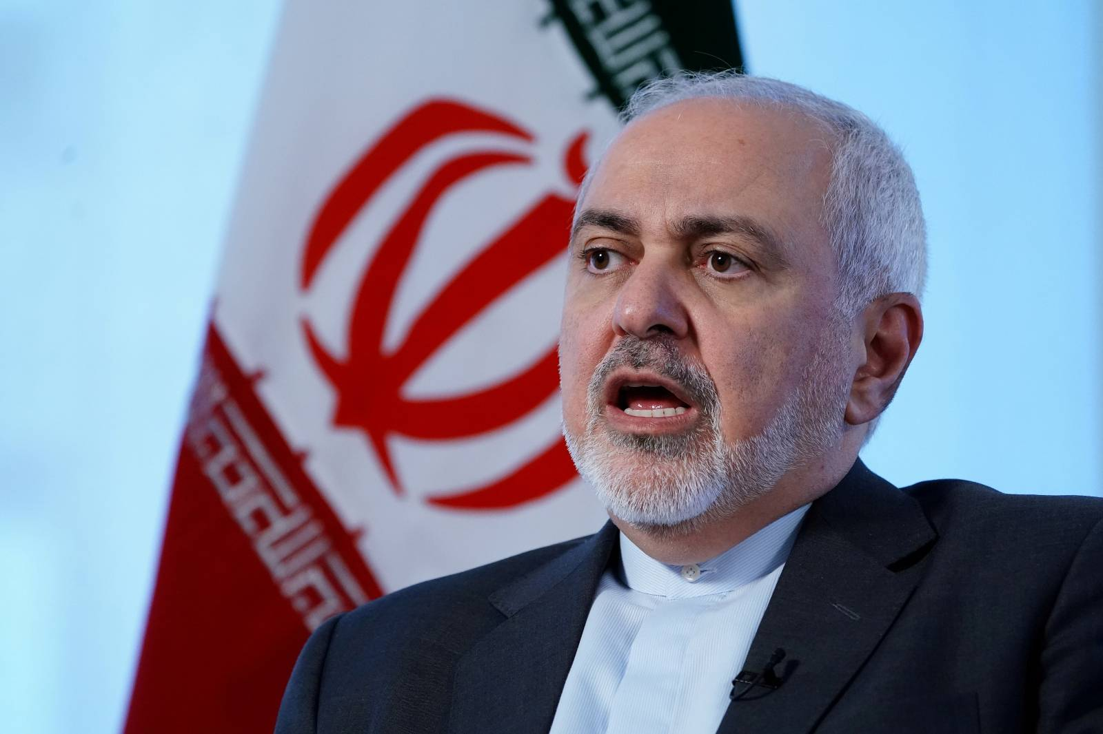 FILE PHOTO: Iran's Foreign Minister Mohammad Javad Zarif sits for an interview with Reuters in New York