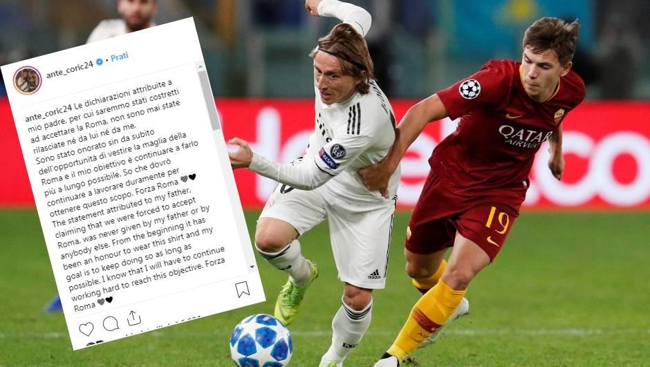 Ćorić demantirao oca: Nisam prisiljen na dolazak u Romu...