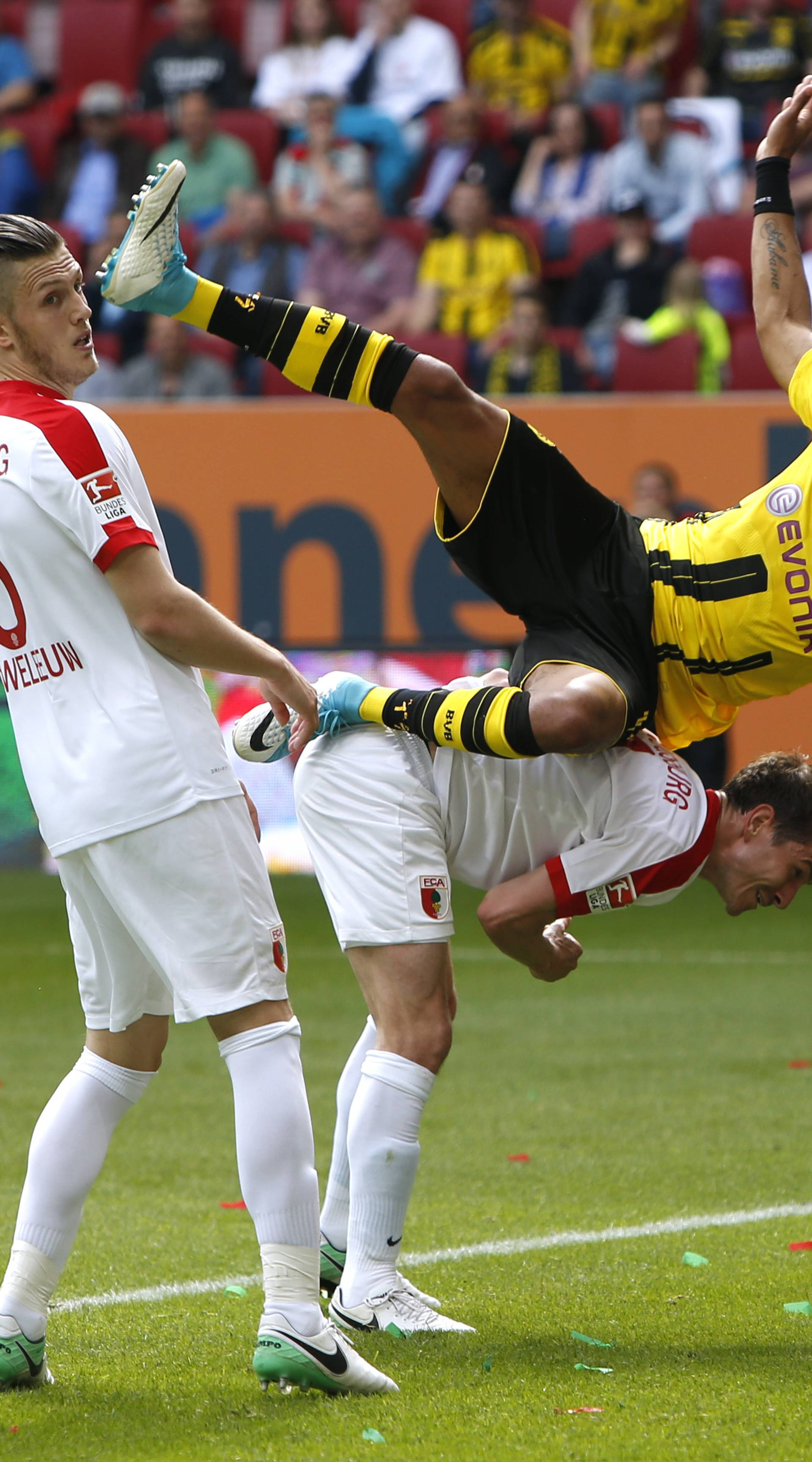 Borussia Dortmund's Pierre-Emerick Aubameyang in action