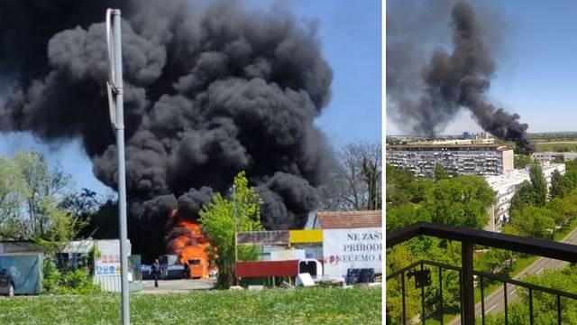 Izgorjelo smeće, plastika i papir, vatra je pod kontrolom. Kalinić: 'Kvaliteta zraka nije narušena'