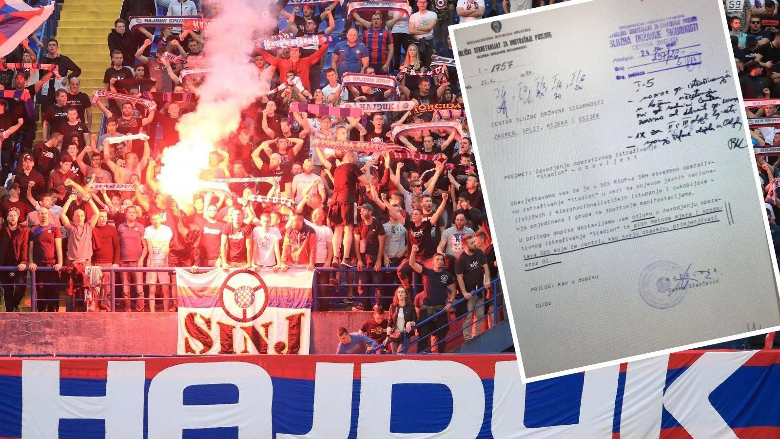 Nepoznata operacija 'Stadion': Udba je uhodila 243 Torcidaša