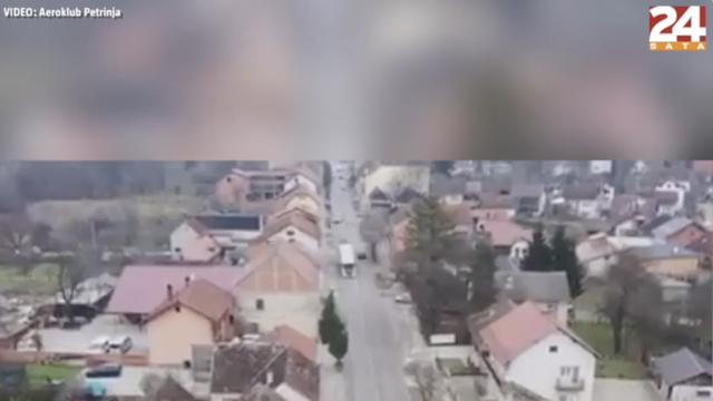 VIDEO Snimke Petrinje iz zraka: Potres je uništio brojne krovove