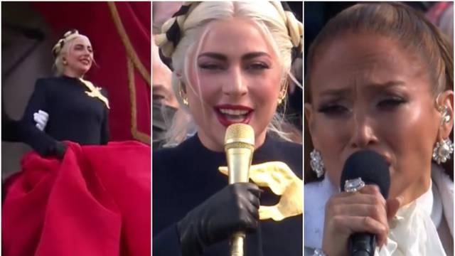 GaGa u raskošnoj haljini pjevala himnu, J.Lo susprezala emocije