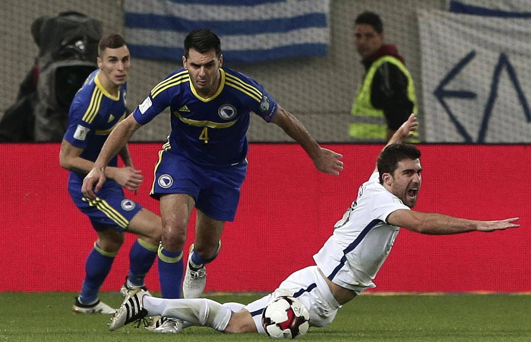 Football Soccer - Greece v Bosnia and Herzegovina - 2018 World Cup Qualifying European Zone