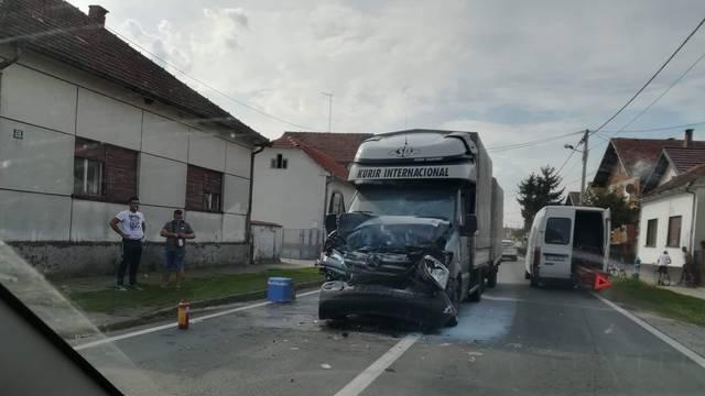 Sudarila se dva kamiona: Nitko nije ozlijeđen, očevid je u tijeku