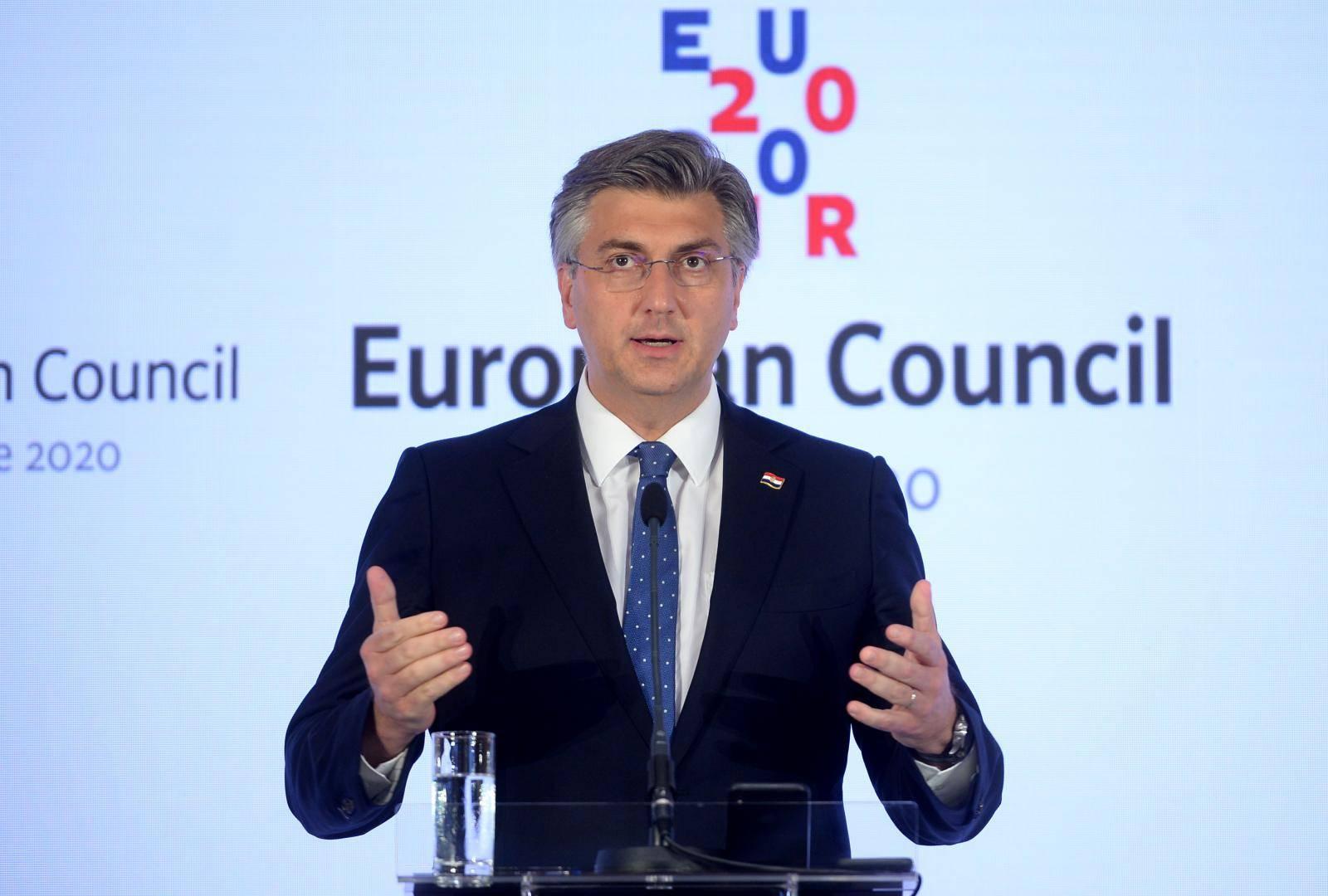 Zagreb: Konferencija za medije nakon sastanka Europskog vijeća održanog u NSK