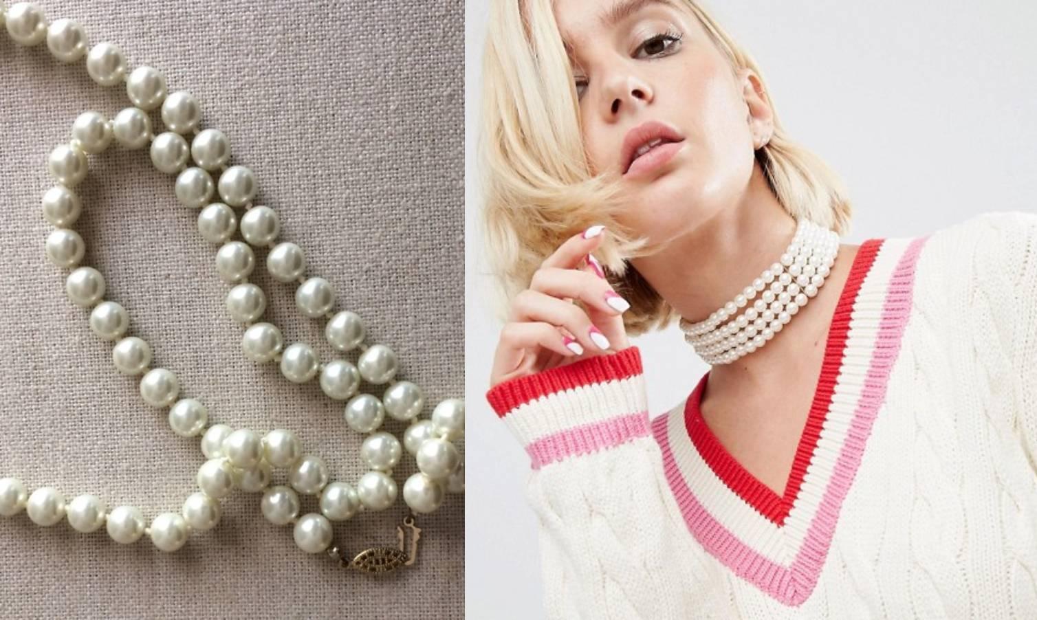 Svestrana biserna ogrlica paše uz vintage haljinu, ali i uz vestu