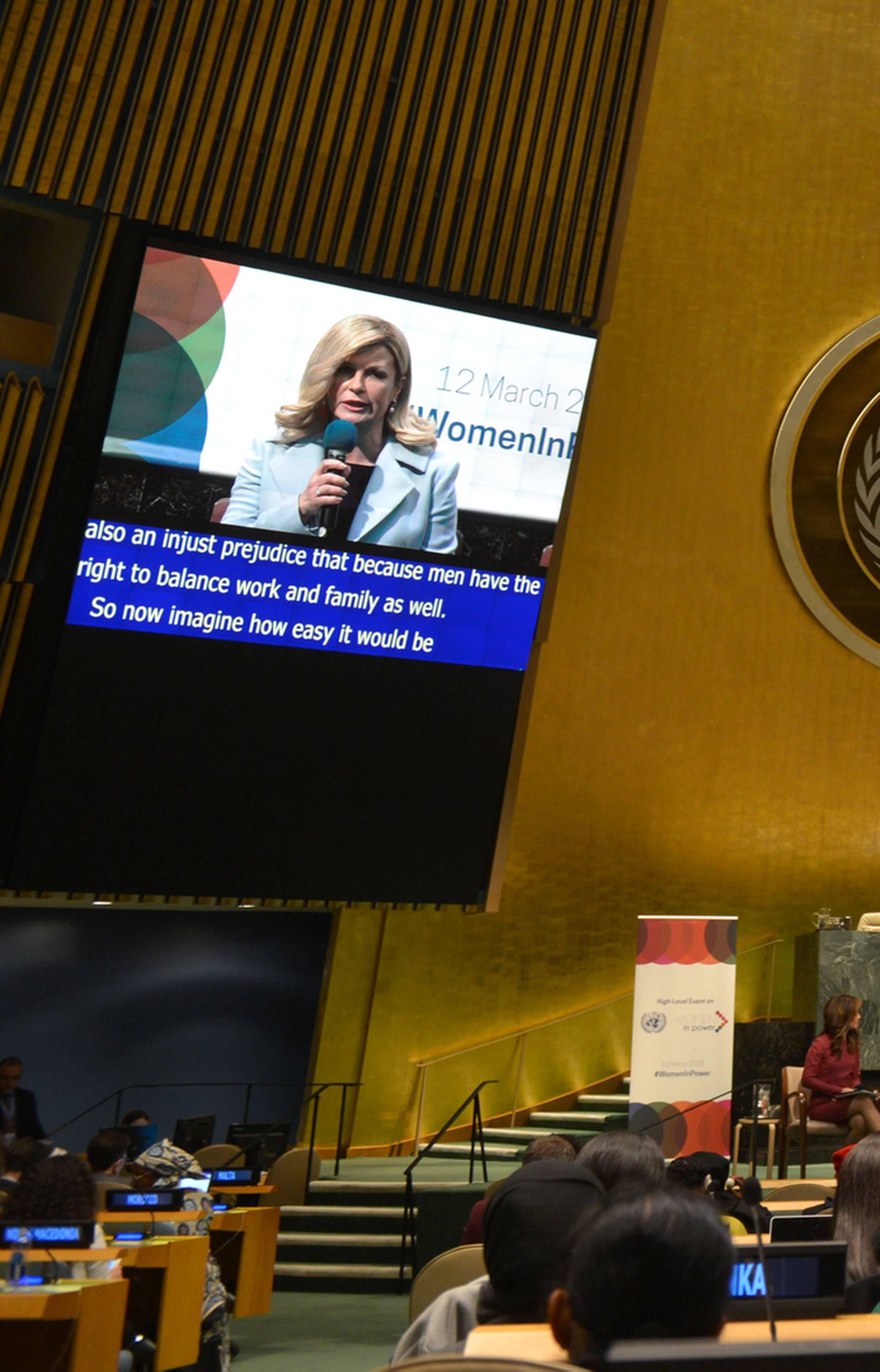 Grabar Kitarović pozvala na osnaženje svih žena u svijetu