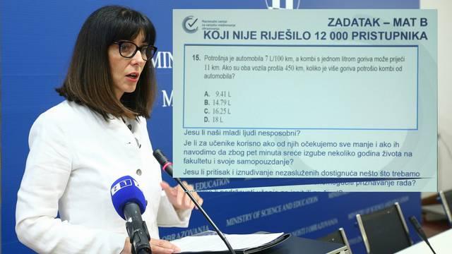 Ministrica nije htjela  riješiti zadatak koji je mučio učenike