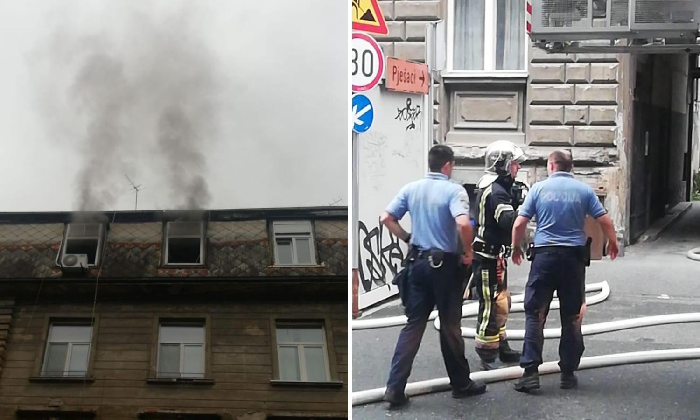 Zapalio se stan u Kačićevoj ulici u Zagrebu zbog kvara na sušilici