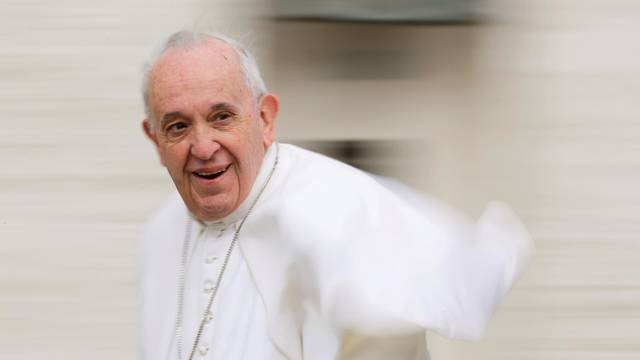 FILE PHOTO: Pope Francis holds the Wednesday general audience at the Vatican