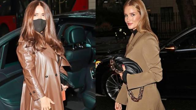 Rosie Huntington-Whiteley i Salma Hayek obožavaju kapute u tonovima vruće čokolade