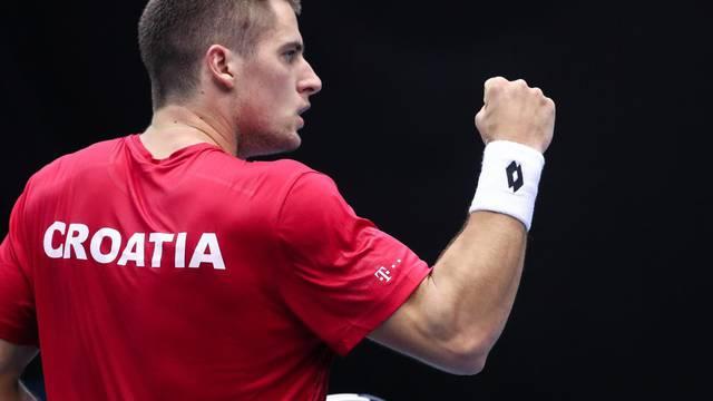 Zagreb: Kvalifikacije Davis Cupa, Hrvatska - Indija, Borna Gojo i Prajnesh Gunneswaran