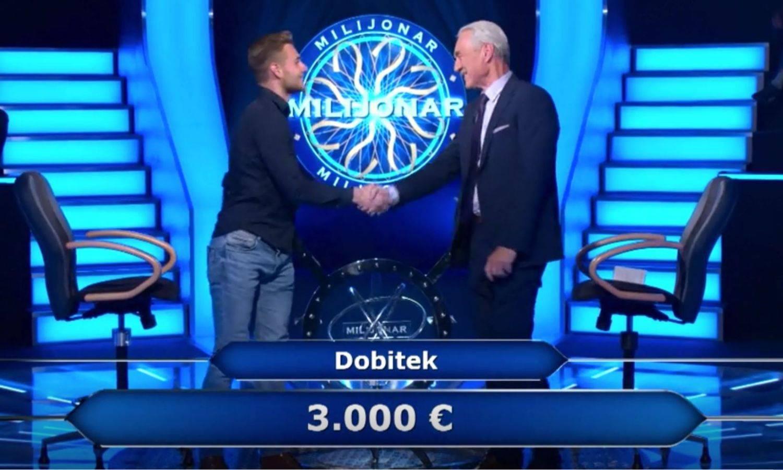 Slovenski golmanski genij: U Milijunašu je osvojio 3000 eura
