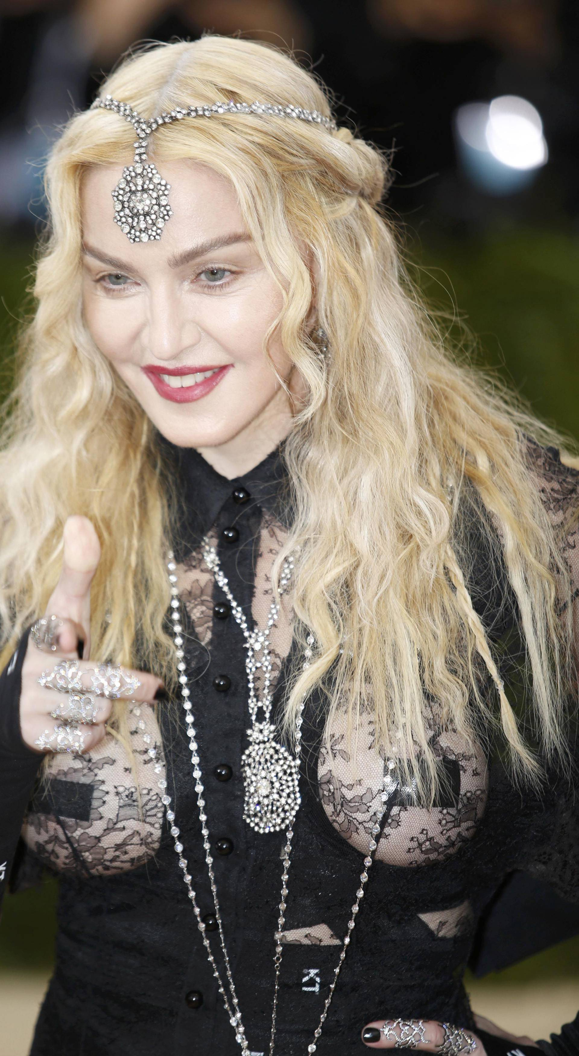 Singer-songwriter Madonna arrives at the Met Gala in New York