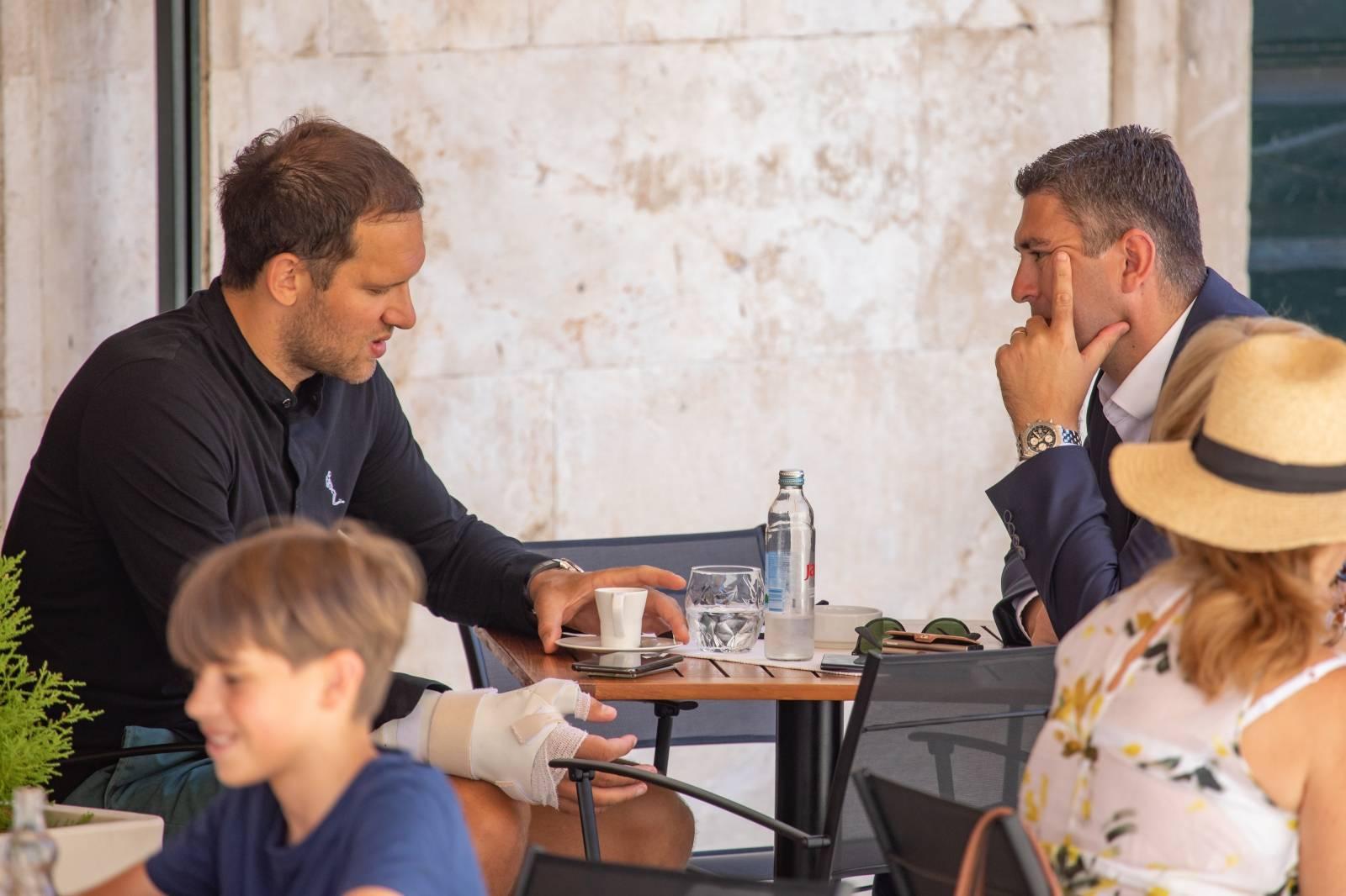 Dubrovnik: Bojan Bogdanović na kavi s gradonačelnikom