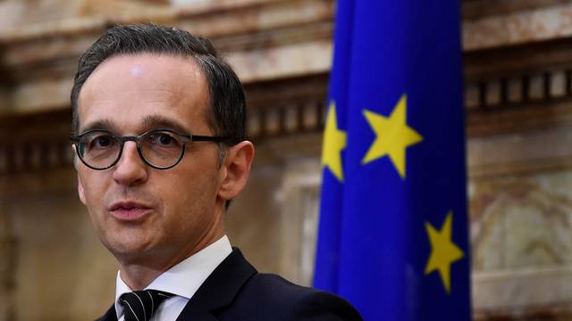 FILE PHOTO: Germany's Foreign Minister Heiko Maas speaks during a news conference in Dublin