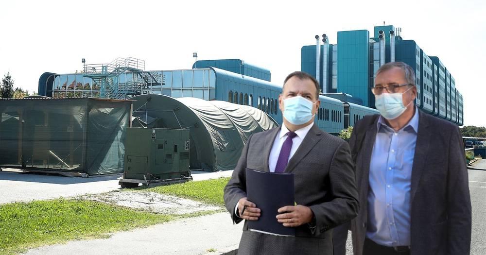Počinje grijanje šatora za oboljele ispred covid bolnice, stiže još osoblja i respiratori