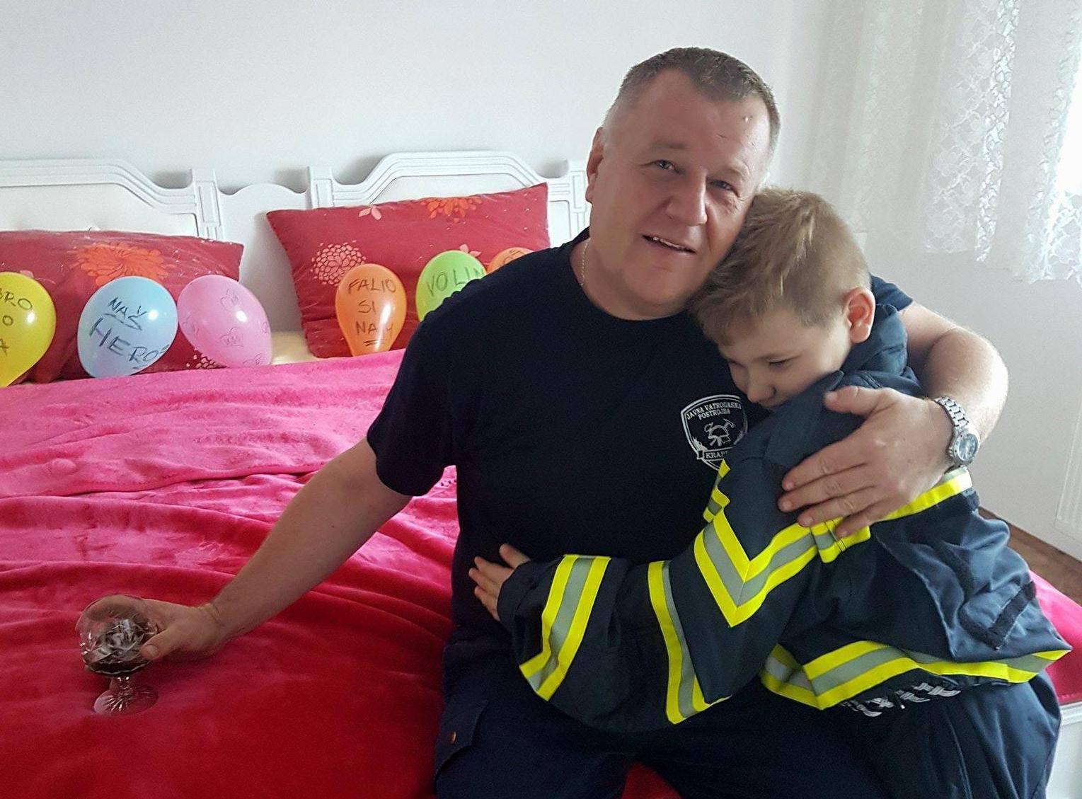 Dječak iz Krapine raznježio oca vatrogasca: 'Tata, ti si heroj!'