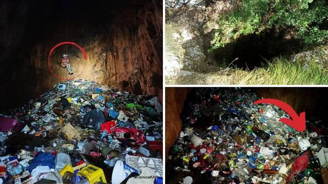 Planina smeća pod zemljom: Špilja u zaleđu Biokova puna je smeća, lijekova, pesticida...