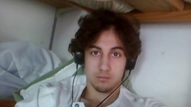 FILE PHOTO: File photo of Boston bombing suspect Dzhokhar Tsarnaev in this handout photo presented as evidence by the U.S. Attorney's Office in Boston