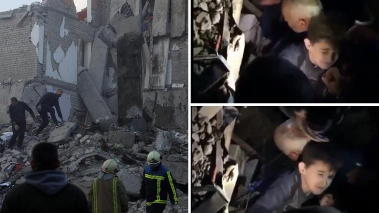 Dječaka prikliještile ruševine stravičnog potresa u Albaniji