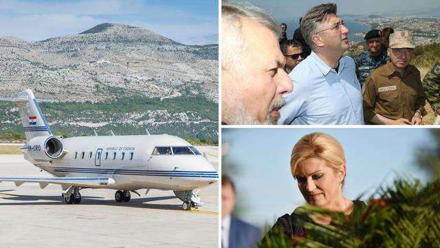 Plenki i Kolinda idu Vladinim zrakoplovom na izjave u Split