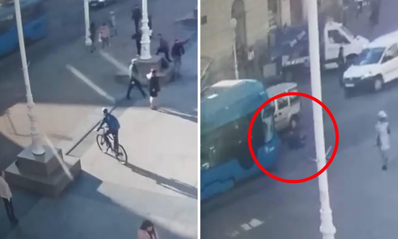 Šokantna snimka: Dječaka  na Trgu u Zagrebu udario tramvaj