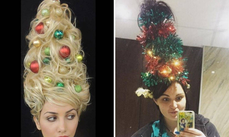 Kuglice u kosi: Novi blagdanski hit je frizura kao božićno drvce